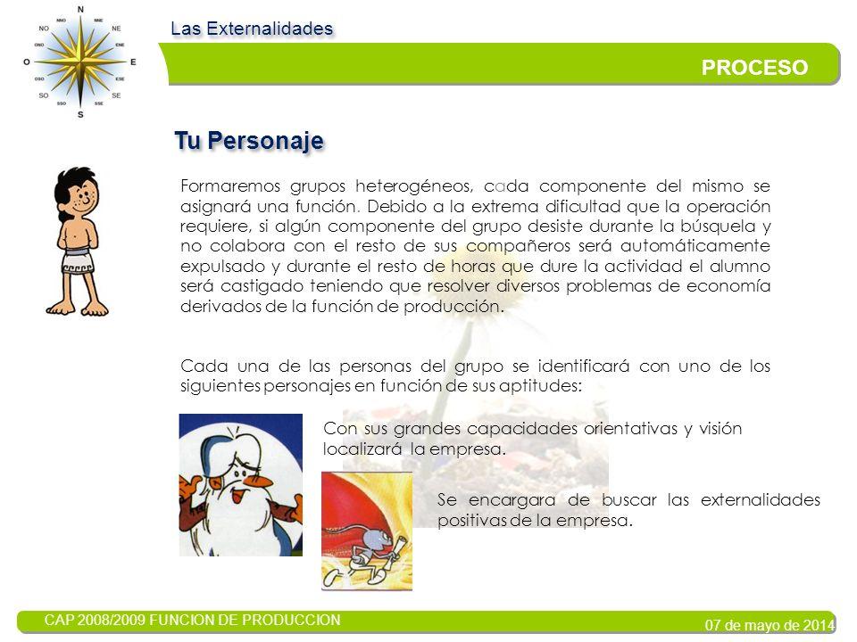 CAP 2008/2009 FUNCION DE PRODUCCION 07 de mayo de 2014 TAREA Las Externalidades Busca y Descubre El capital de la empresa corresponde a familias aragonesas.