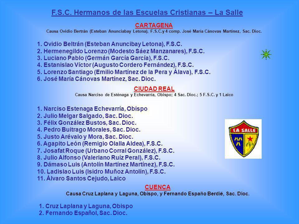 1.Laurentino (Mariano Alonso Fuente), F.M.S. 2. Virgilio, (Trifón Lacunza Unzu), F.M.S.