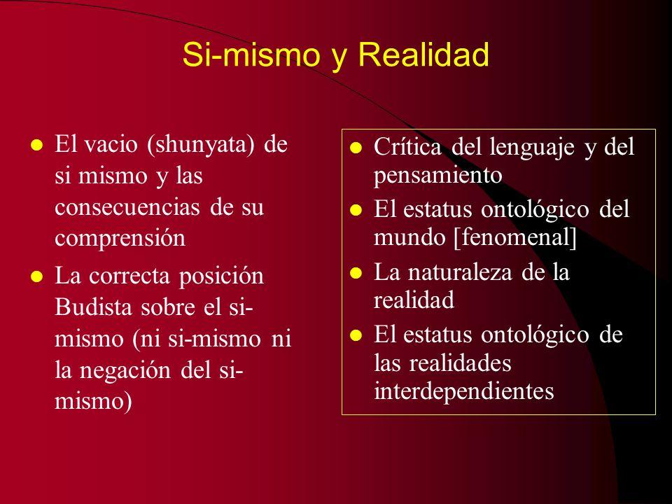 Esencia y existencia l Implicaciones del esencialismo l ¿Entidades sin (vacias de) esencia.