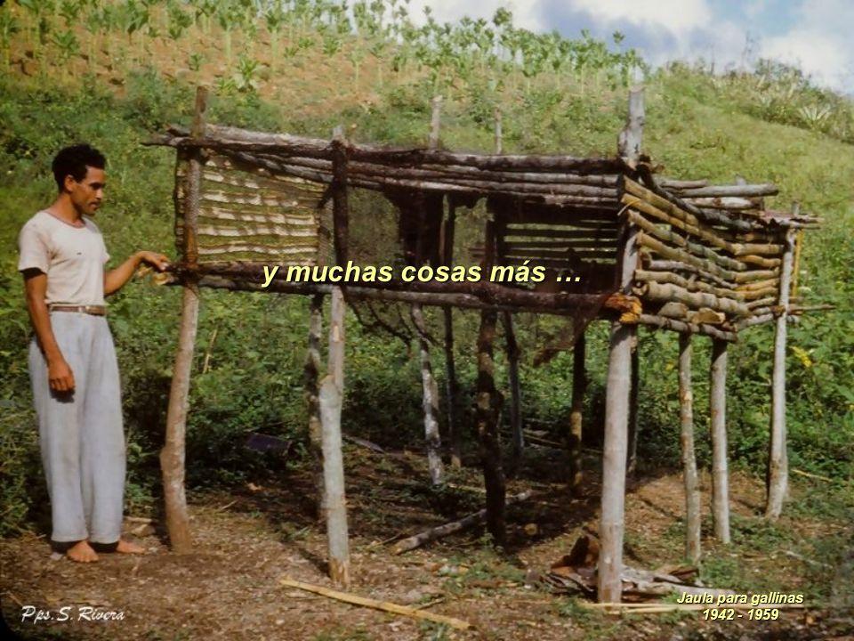 y hasta la plancha de planchar la ropa, ya que esta era de carbón. Plancha de carbón 1942 - 1959