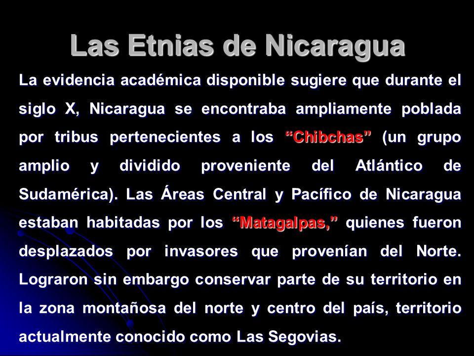 Las Etnias de Nicaragua La evidencia académica disponible sugiere que durante el siglo X, Nicaragua se encontraba ampliamente poblada por tribus perte