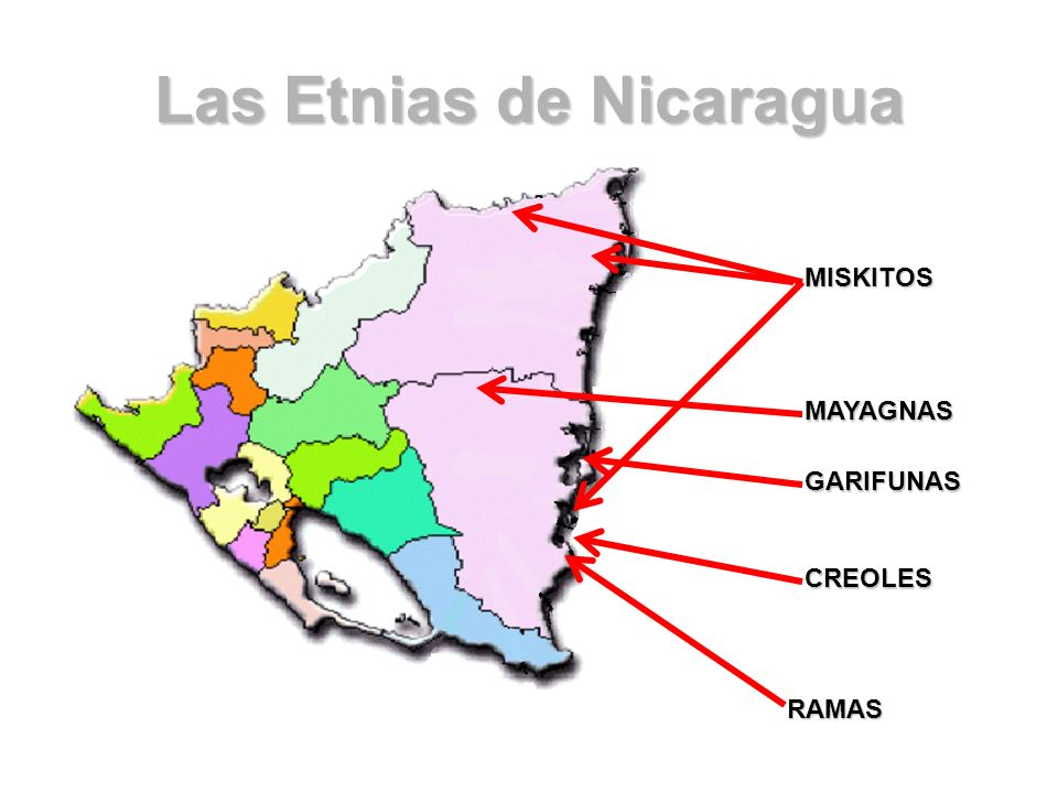 Las Etnias de Nicaragua RAMAS MAYAGNAS MISKITOS GARIFUNAS CREOLES