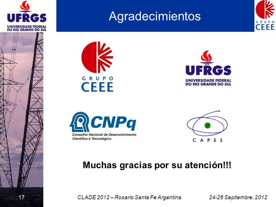 17 Agradecimientos Muchas gracias por su atención!!! 24-26 Septiembre, 2012CLADE 2012 – Rosario Santa Fe Argentina