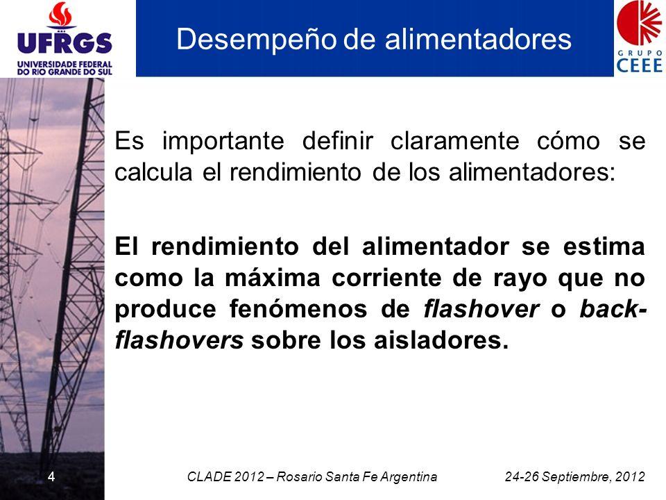 4 Desempeño de alimentadores Es importante definir claramente cómo se calcula el rendimiento de los alimentadores: El rendimiento del alimentador se e