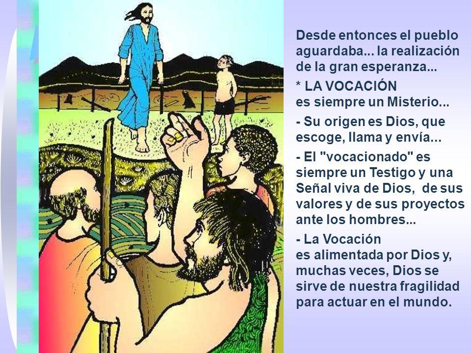 En la 1ª Lectura, ISAÍAS señala la Vocación de Israel. (Is 49,3,5-6) Un misterioso