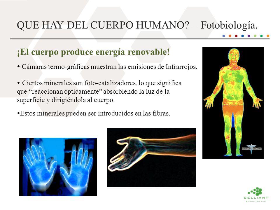 QUE HAY DEL CUERPO HUMANO? – Fotobiología. ¡El cuerpo produce energía renovable! Cámaras termo-gráficas muestran las emisiones de Infrarrojos. Ciertos