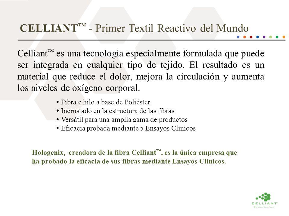 CELLIANT - Primer Textil Reactivo del Mundo Celliant es una tecnología especialmente formulada que puede ser integrada en cualquier tipo de tejido. El