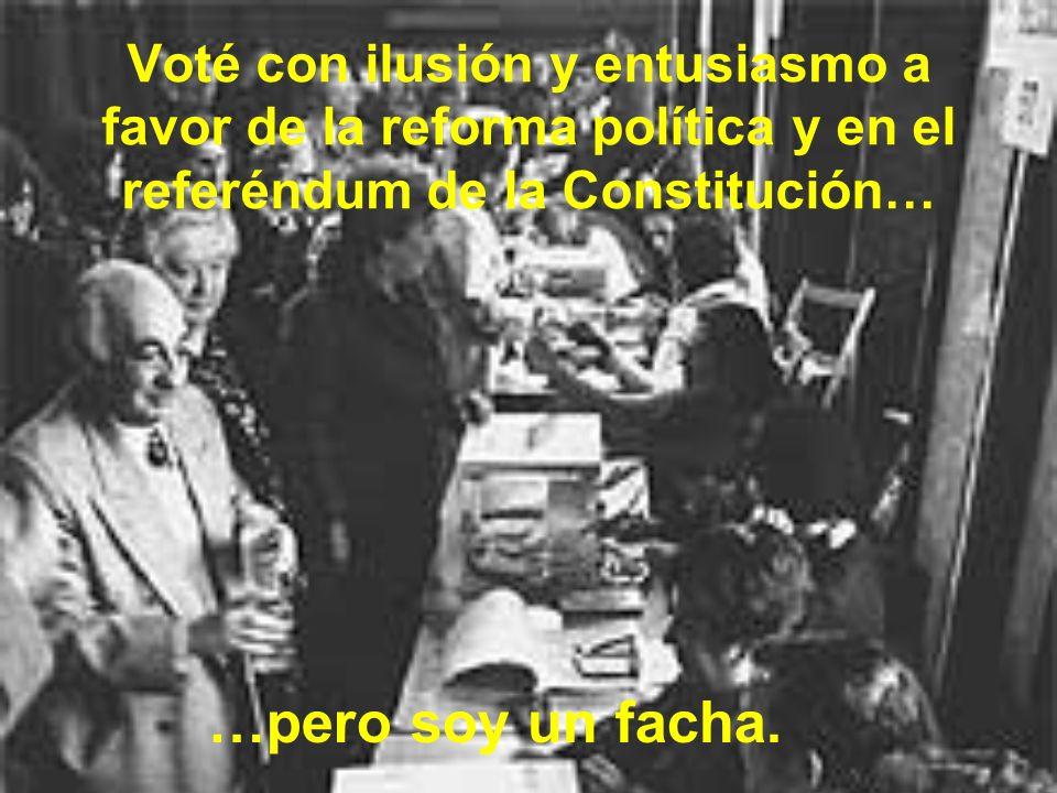 Creo en el principio de solidaridad entre los territorios de España, y defiendo que los más favorecidos tienen que ayudar a las autonomías más deprimidas… …pero soy un facha.