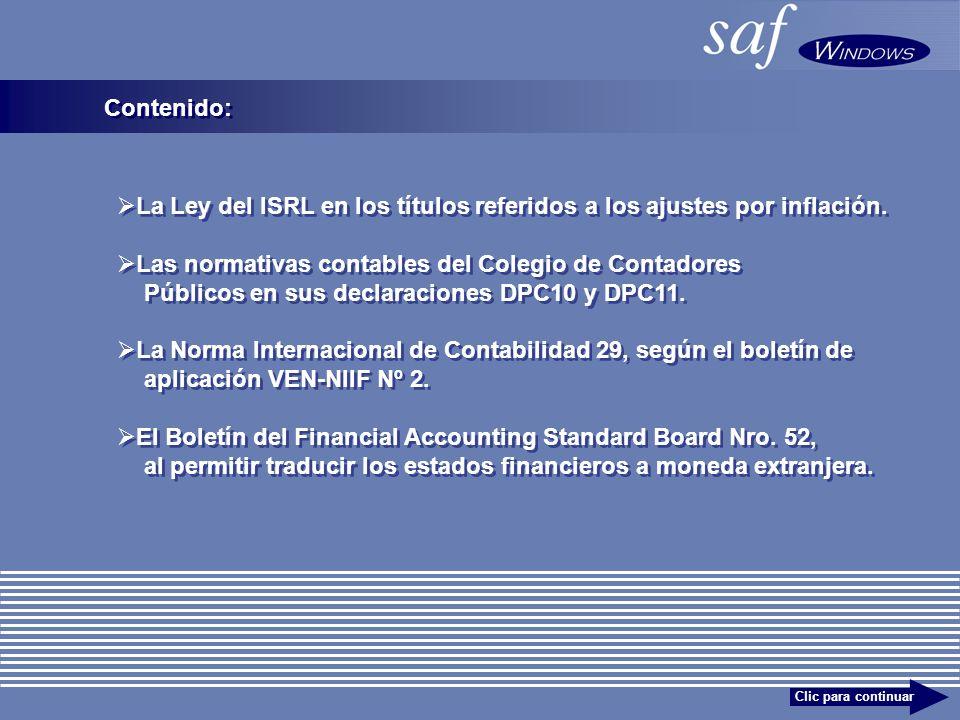 Contenido: La Ley del ISRL en los títulos referidos a los ajustes por inflación.