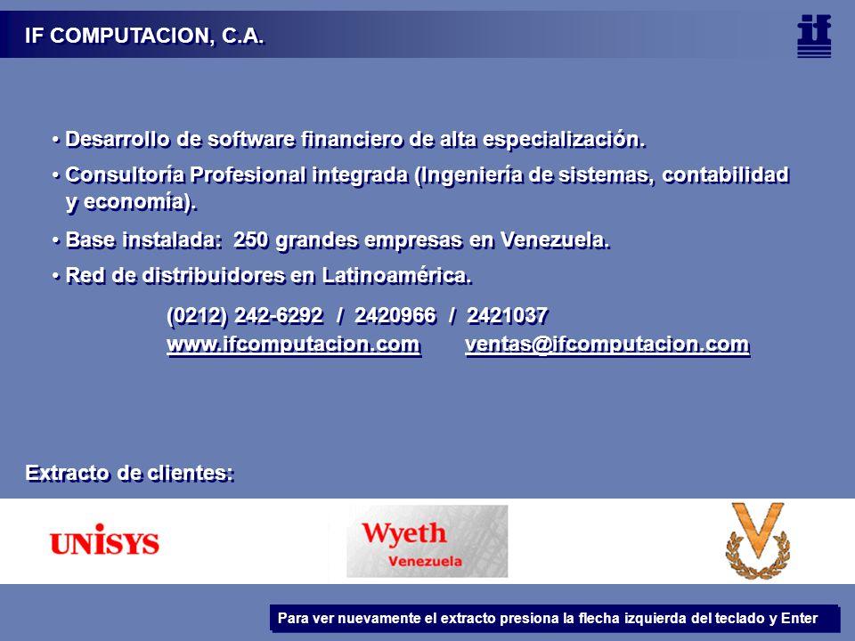 IF COMPUTACION, C.A.Desarrollo de software financiero de alta especialización.