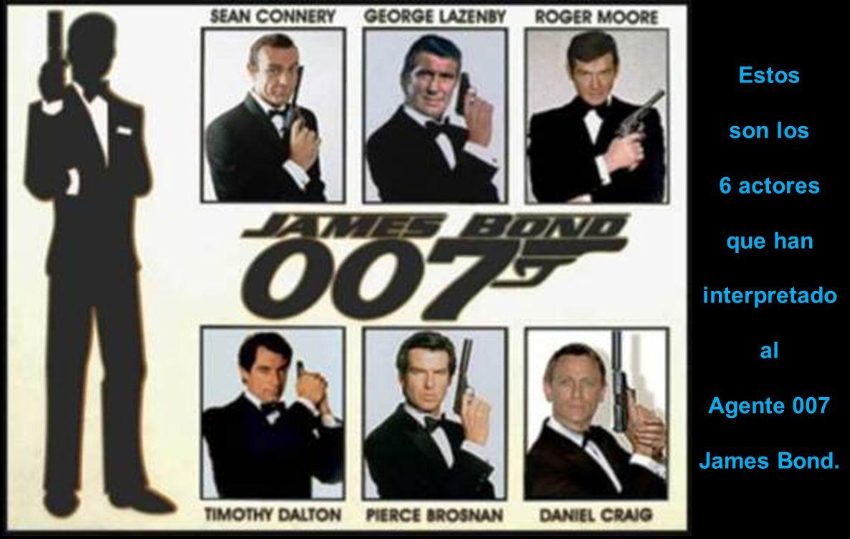 Estos son los 6 actores que han interpretado al Agente 007 James Bond.
