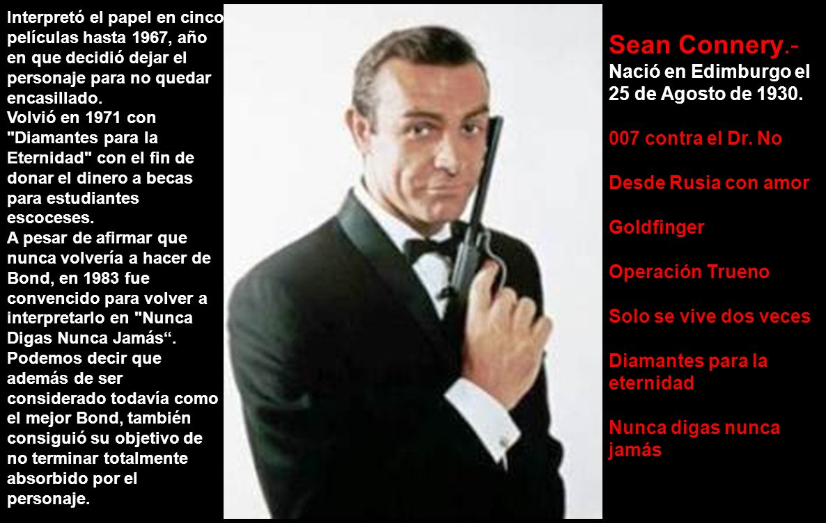 Estos son los 6 actores que han interpretado al Agente 007 James Bond.