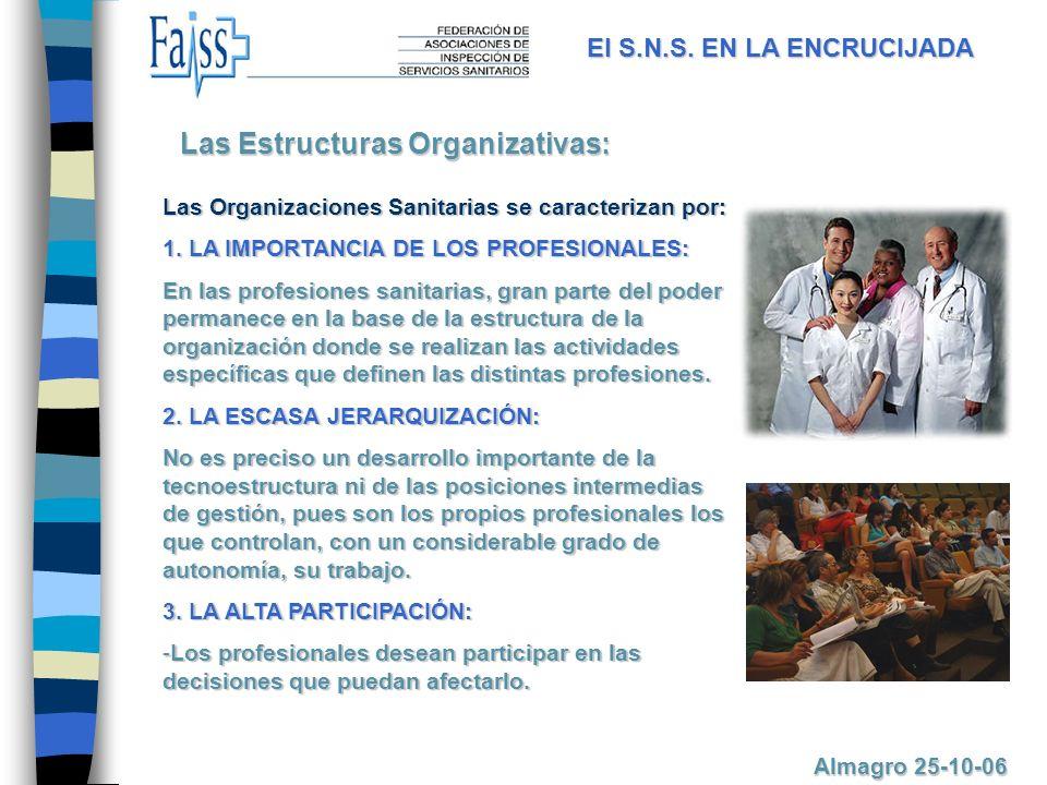 Las Organizaciones Sanitarias se caracterizan por: 1.