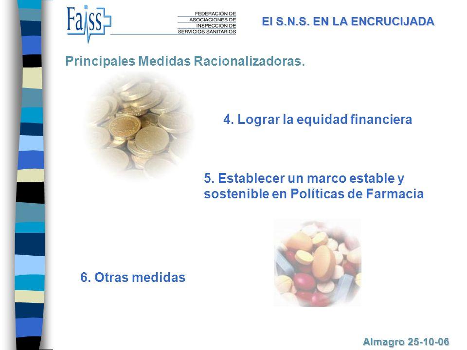 El S.N.S.EN LA ENCRUCIJADA Almagro 25-10-06 4. Lograr la equidad financiera 5.