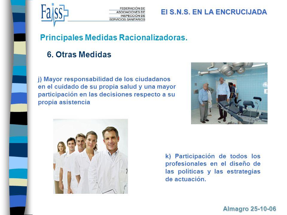 k) Participación de todos los profesionales en el diseño de las políticas y las estrategias de actuación.