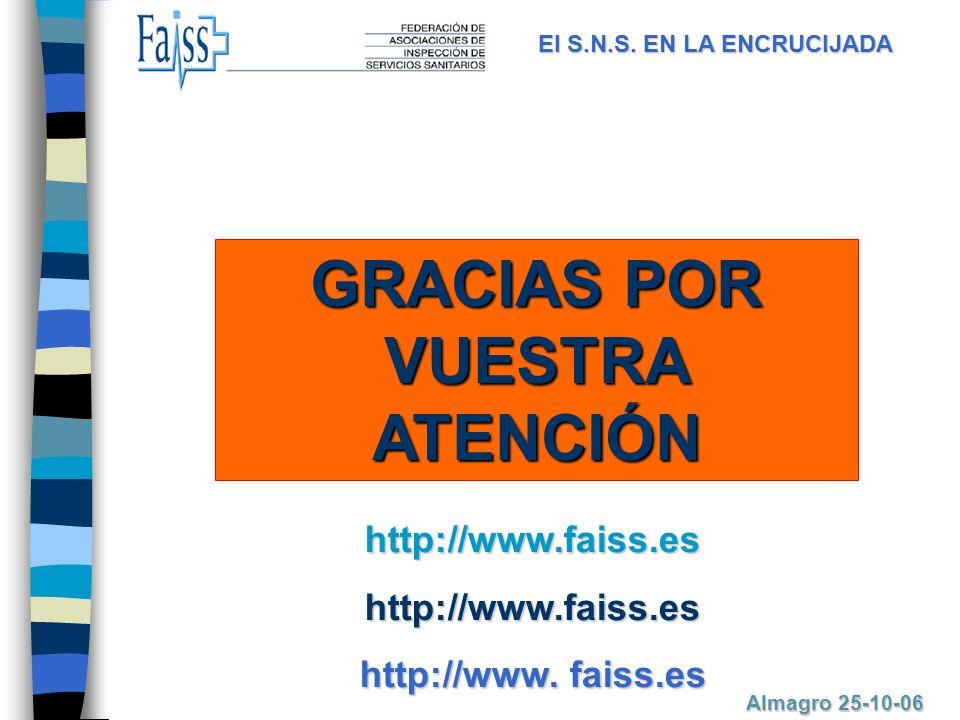 GRACIAS POR VUESTRA ATENCIÓN http://www.faiss.eshttp://www.faiss.es http://www.