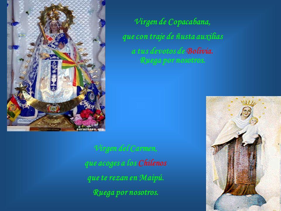 Nuestra Señora del Quinche, a quien se encomiendan los Ecuatorianos. Ruega por nosotros. Nuestra Señora de la Evangelización, que haces cercano el Eva
