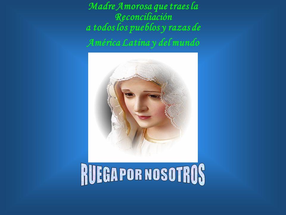 Santa María de Caacupé, que en Asunción recibes a tus hijos del Paraguay. Ruega por nosotros. Santa Señora de Coromoto, evangelizadora de los Venezola