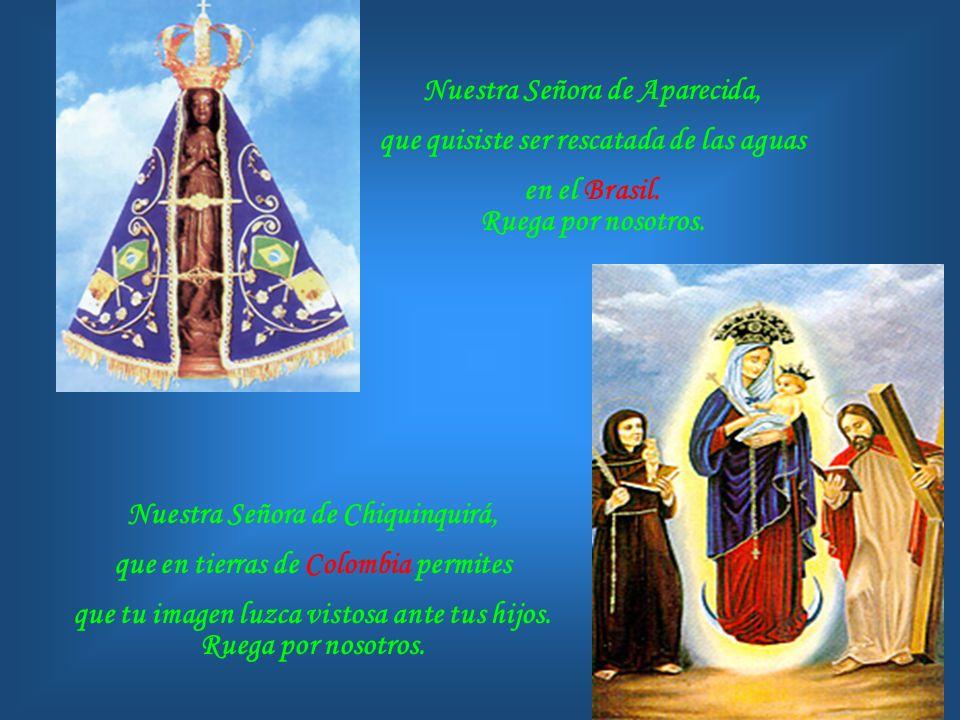 Nuestra Señora de los Ángeles, que desde Cartago guías a los Costarricenses que te invocan. Ruega por nosotros. Inmaculada Concepción, que extiendes t