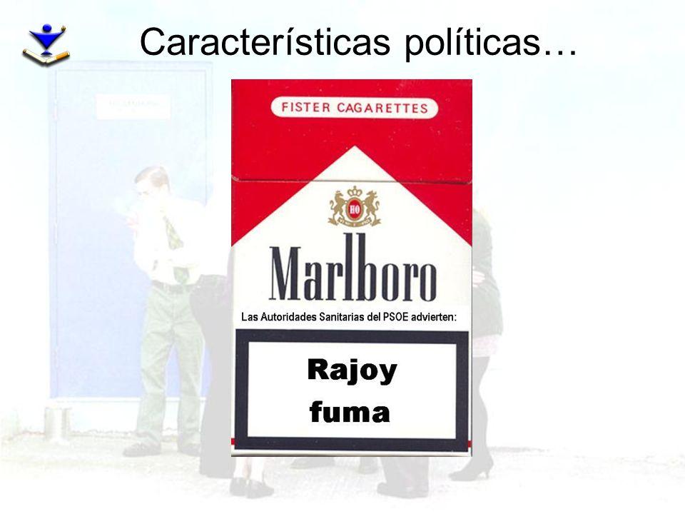 Características políticas…