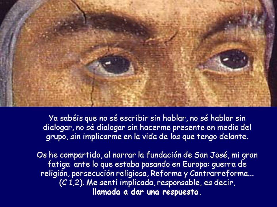 ¡Qué contento tan grande el estar con vosotros… …en esta fecha tan querida por mí, para celebrar con cada una/o los 450 años de la fundación del primer palomarcito de la Virgen: mi San José de Ávila!