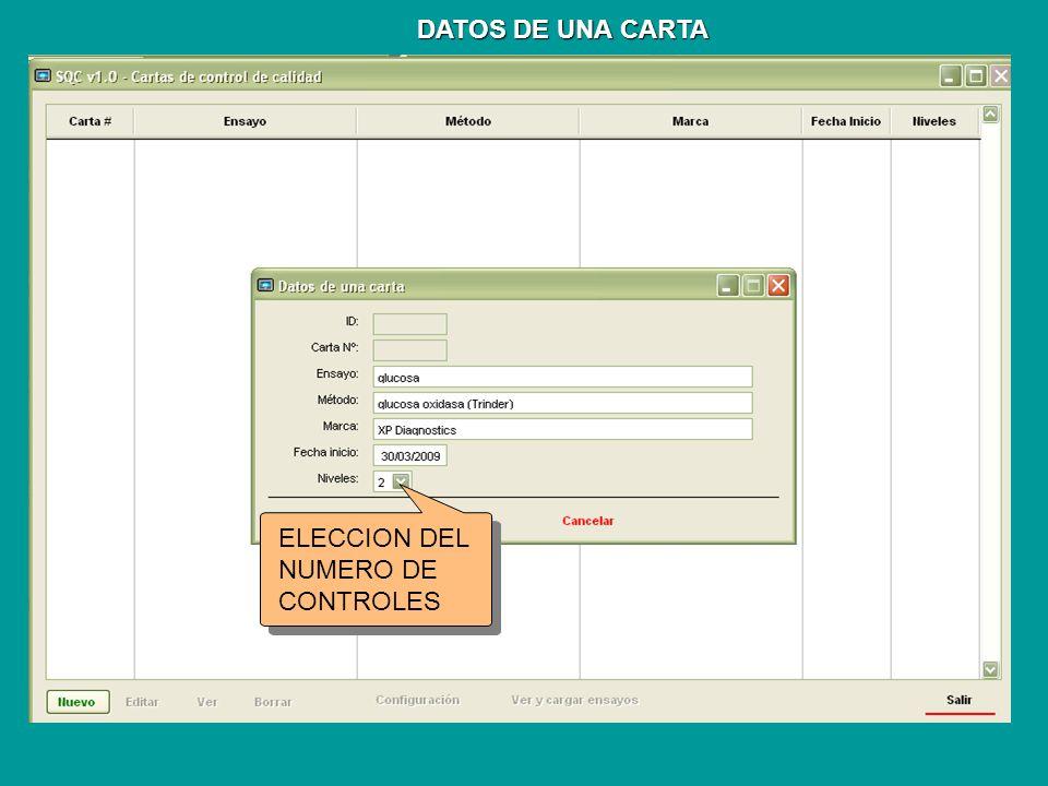 ELECCION DEL NUMERO DE CONTROLES
