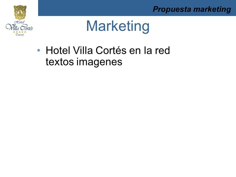 Hotel Villa Cortés en la red textos imagenes Propuesta marketing Marketing
