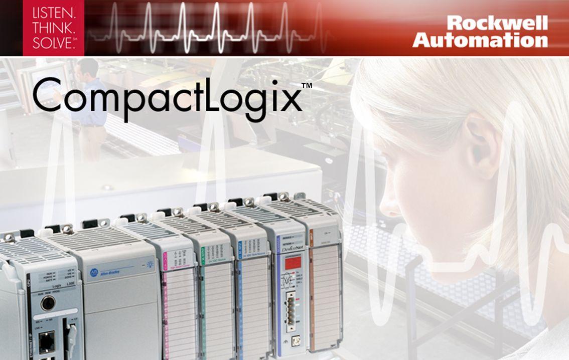 Sistema de control modular avanzado que puede usarse en casi cualquier aplicación Memoria CompactFlash no volátil extraíble para almacenamiento de programas Hasta 30 módulos Compact I/O locales Programación de aplicación común y configuración mediante nuestro software RSLogix 5000