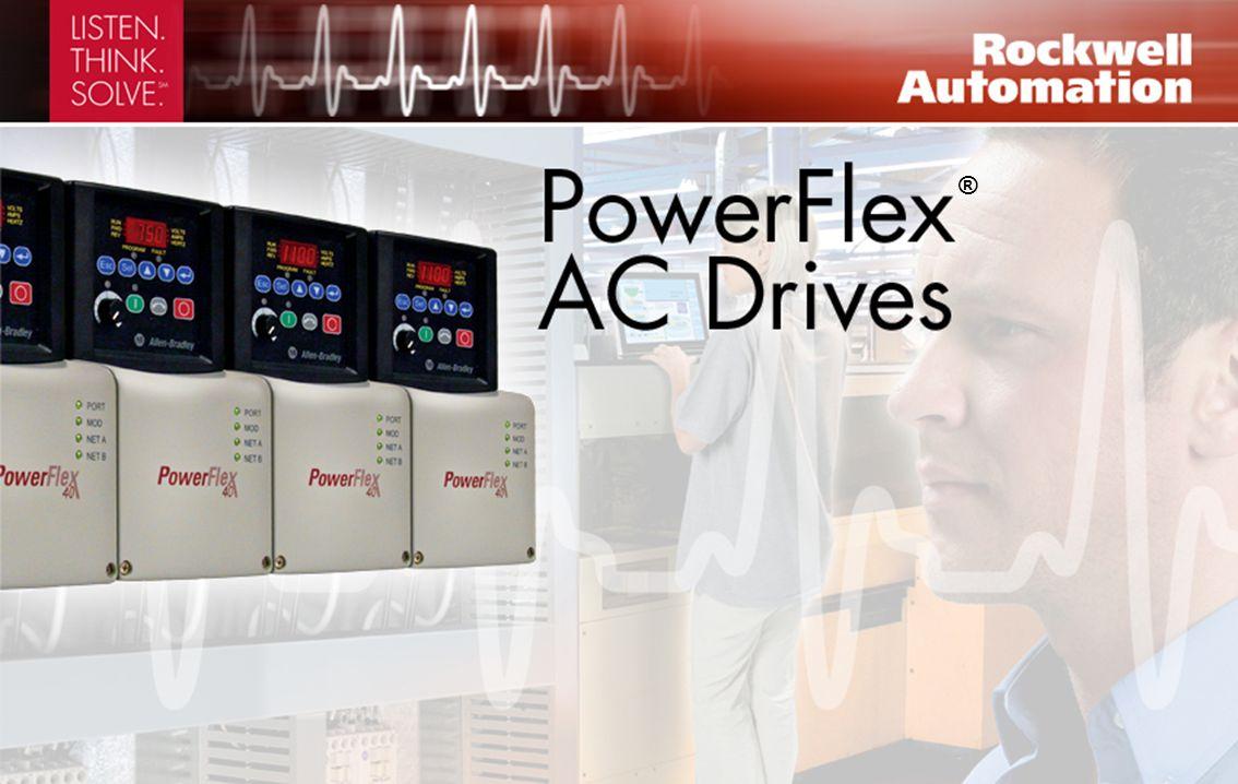 Control vectorial sin sensor y capacidad de E/S adicionales Variador de CA PowerFlex 40 con clasificaciones de 0.4 - 11 kW; 0.5 - 15 hp 120, 240, 480, 600 V Dos canales de entrada analógica, y capacidad PID, ofrecen una mayor flexibilidad a la aplicación