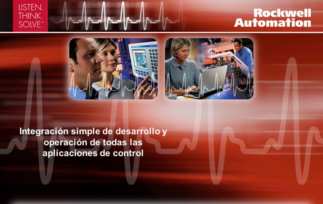 Integración simple de desarrollo y operación de todas las aplicaciones de control