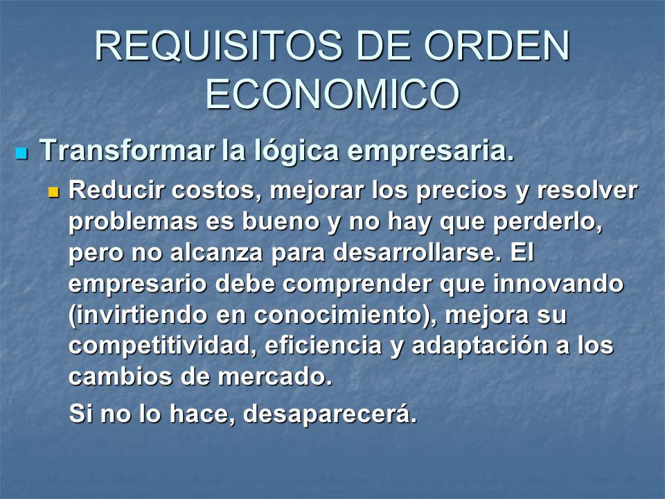 Transformar la lógica empresaria. Transformar la lógica empresaria. Reducir costos, mejorar los precios y resolver problemas es bueno y no hay que per
