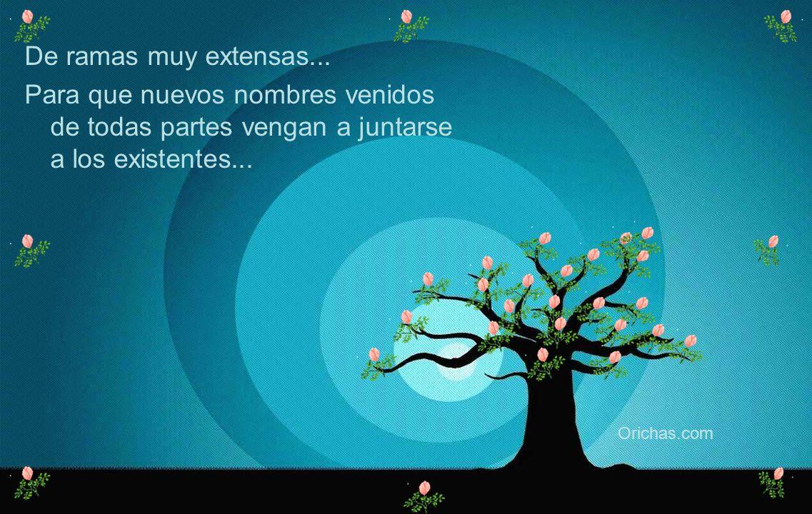 Un árbol de raíces muy profundas... Para que sus nombres jamas sean arrancados de mi corazon... Orichas.com