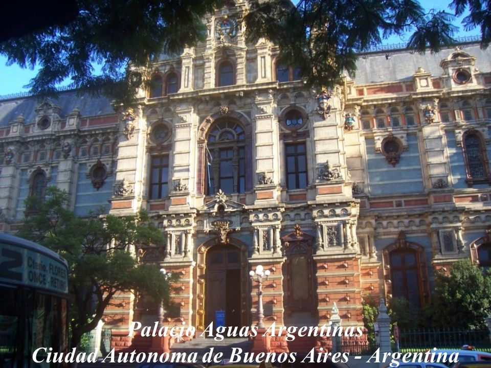 Palacio Aguas Argentinas Ciudad Autonoma de Buenos Aires - Argentina