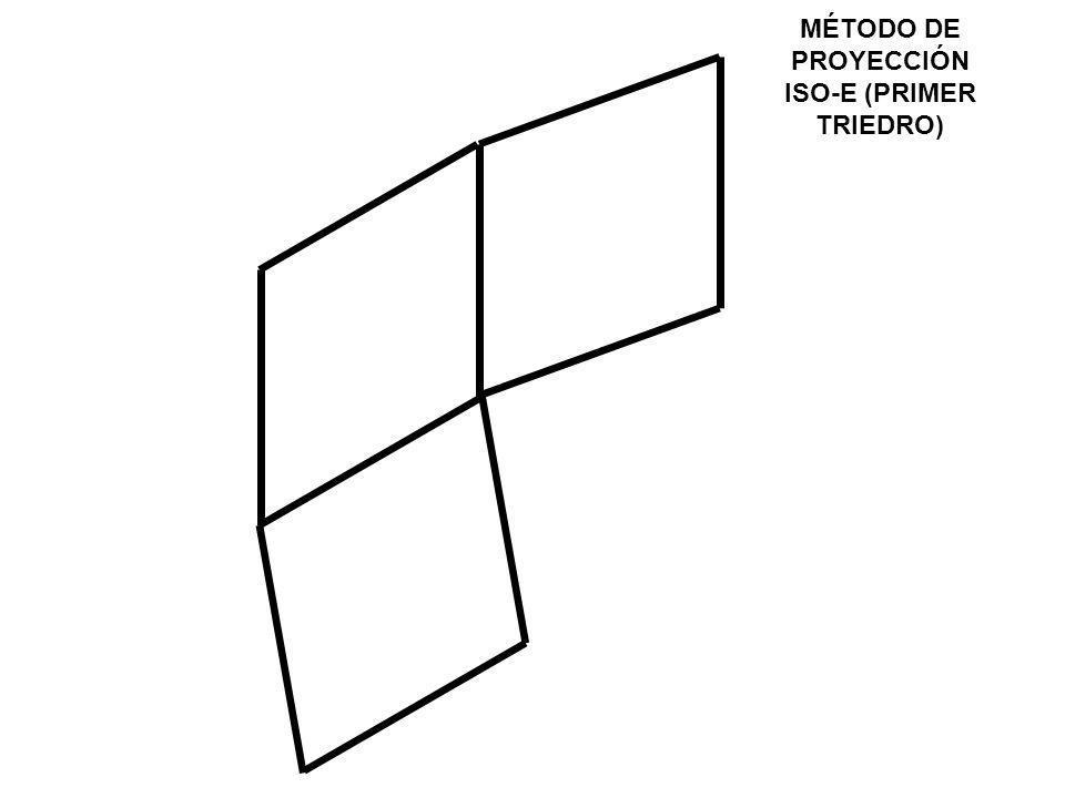 MÉTODO DE PROYECCIÓN ISO-E (PRIMER TRIEDRO)