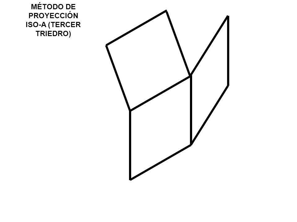 MÉTODO DE PROYECCIÓN ISO-A (TERCER TRIEDRO)
