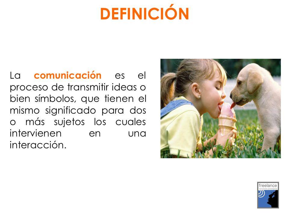 La comunicación es el proceso de transmitir ideas o bien símbolos, que tienen el mismo significado para dos o más sujetos los cuales intervienen en una interacción.