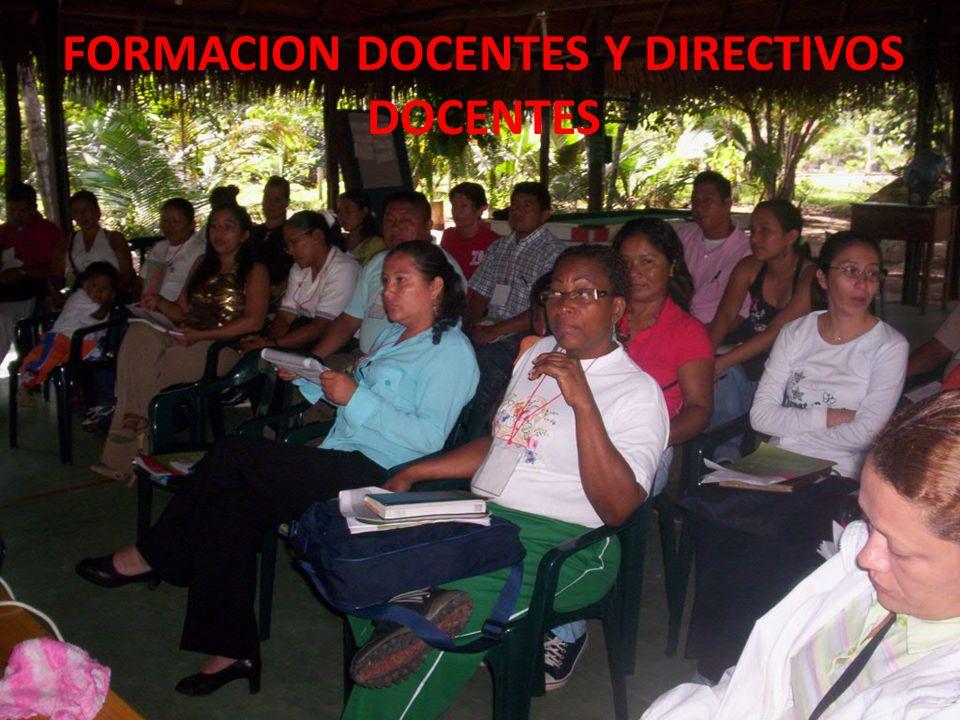 FORMACION DOCENTES Y DIRECTIVOS DOCENTES