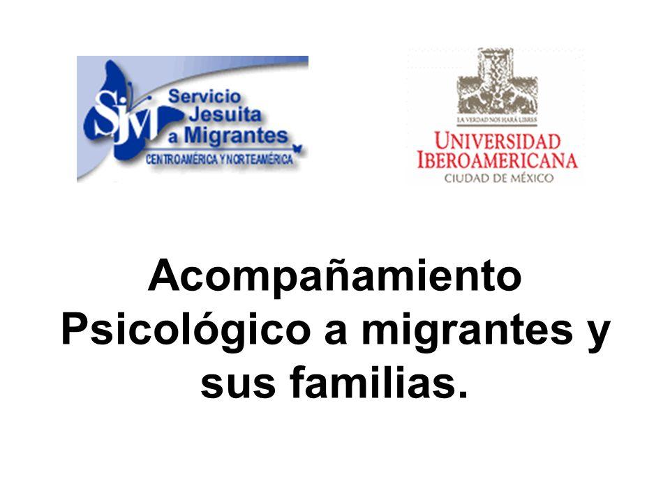 Acompañamiento Psicológico a migrantes y sus familias.