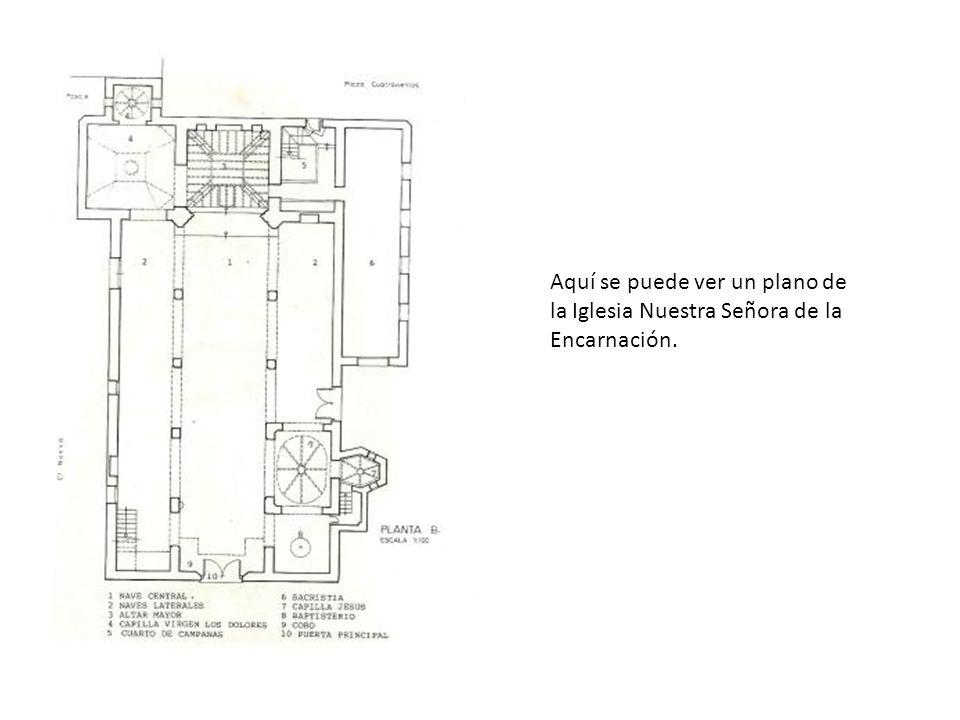 Aquí se puede ver un plano de la Iglesia Nuestra Señora de la Encarnación.