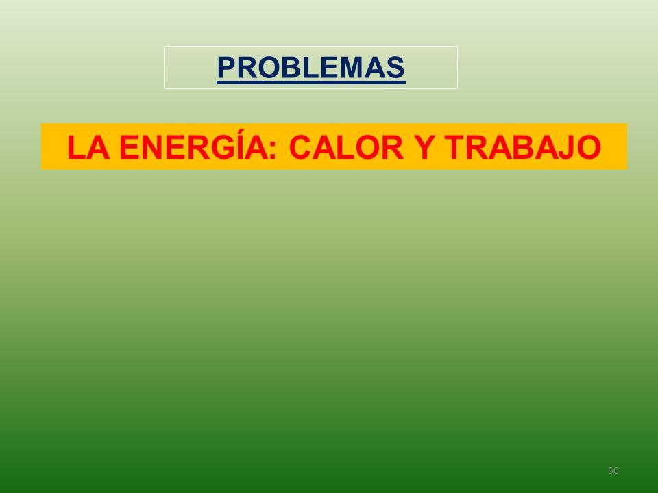 50 PROBLEMAS LA ENERGÍA: CALOR Y TRABAJO