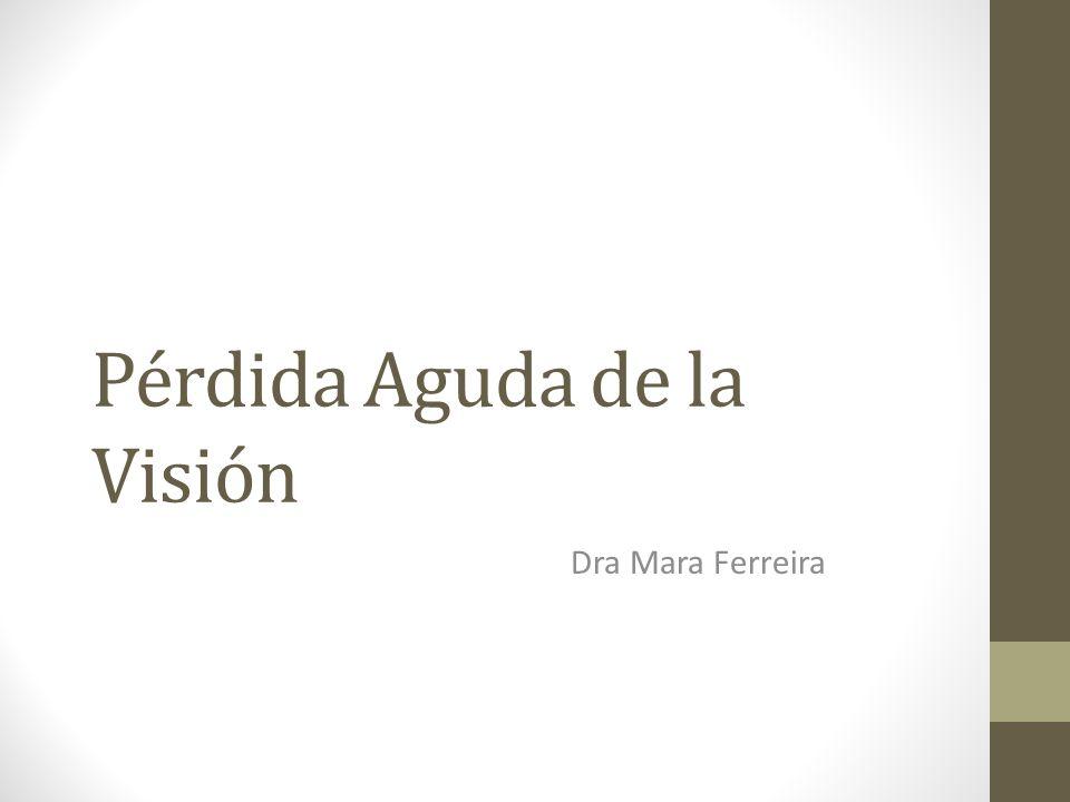 Pérdida Aguda de la Visión Dra Mara Ferreira