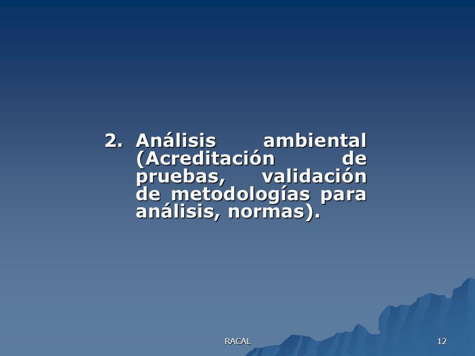 RACAL 11 1.Química ambiental (Modelo de distribución de contaminantes, problemas que se generan en las matrices, agua, suelo y aire).