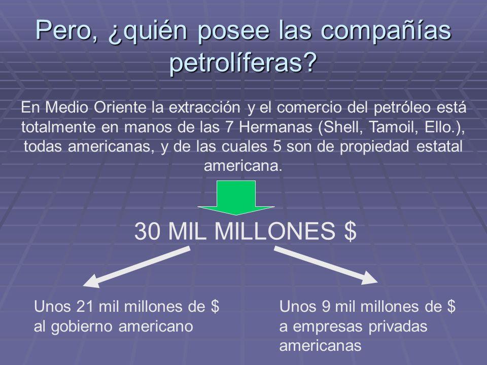 Pero, ¿quién posee las compañías petrolíferas.