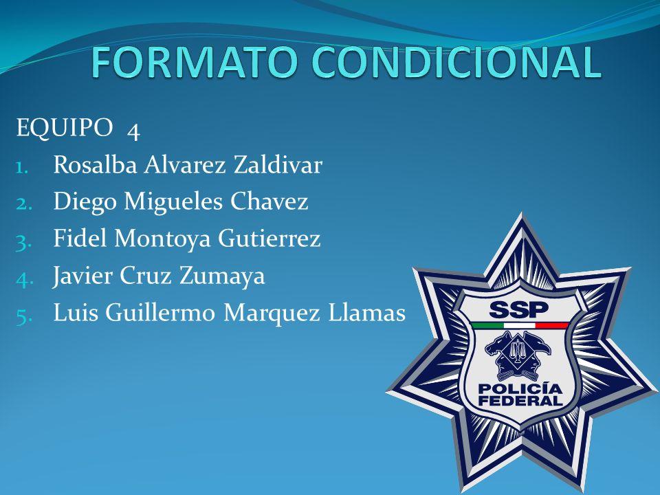 EQUIPO 4 1. Rosalba Alvarez Zaldivar 2. Diego Migueles Chavez 3.