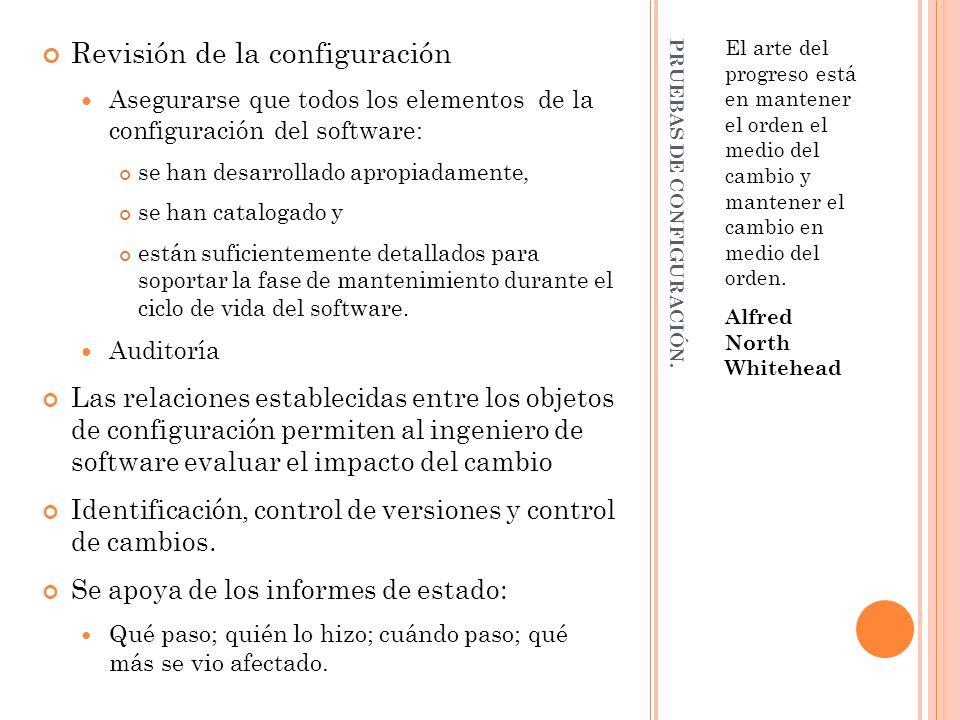 PRUEBAS DE CONFIGURACIÓN.