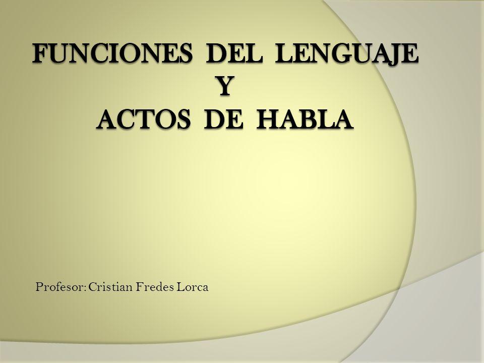 Profesor: Cristian Fredes Lorca