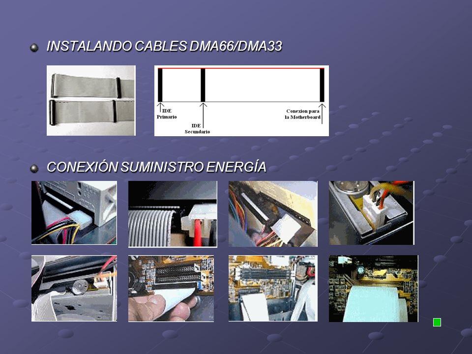 INSTALANDO CABLES DMA66/DMA33 CONEXIÓN SUMINISTRO ENERGÍA