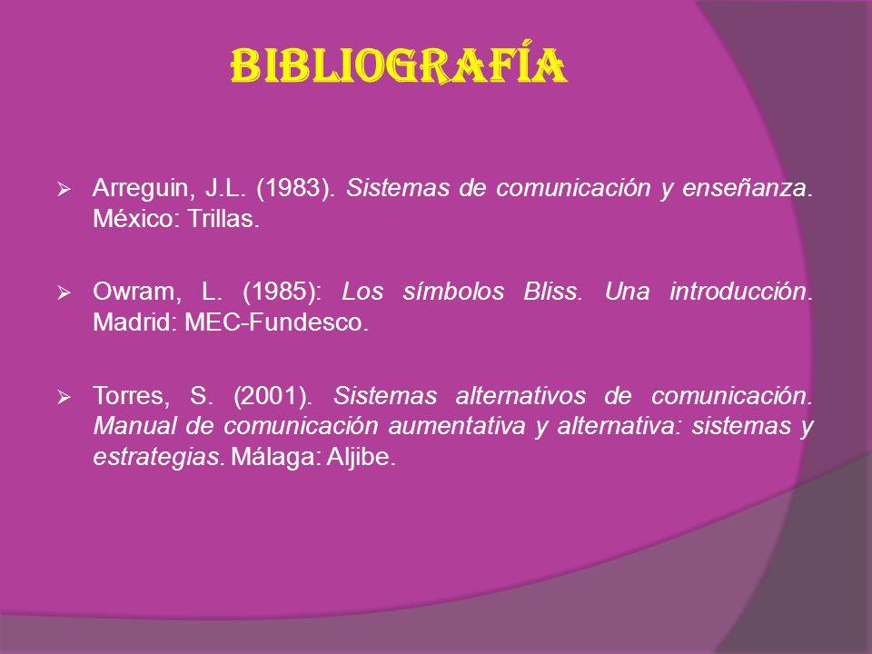 Bibliografía Arreguin, J.L.(1983). Sistemas de comunicación y enseñanza.