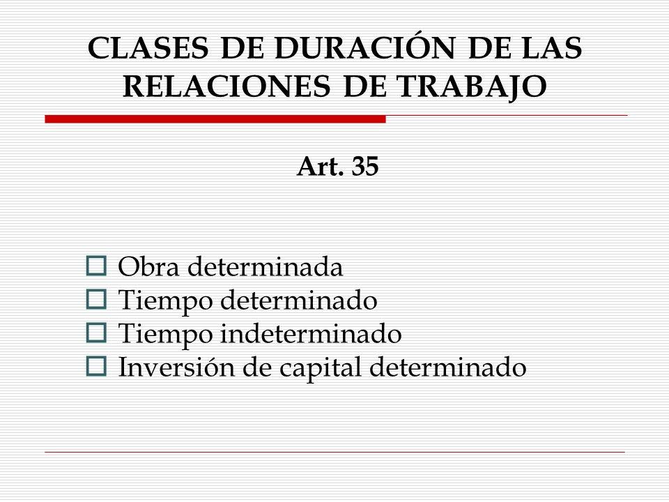 RELACIÓN DE TRABAJO Art.