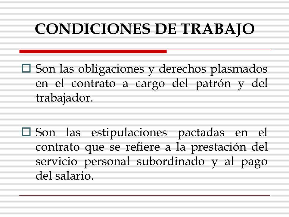 CLASES DE DURACIÓN DE LAS RELACIONES DE TRABAJO Art.